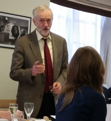 Jeremy Corbyn addresses the Newspaper Conference annual lunch