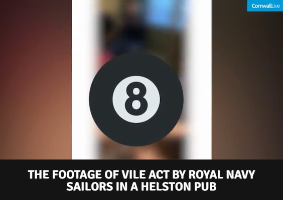 A screenshot of the edited video published on Cornwall Live