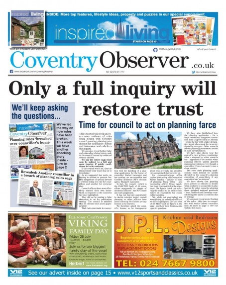 Cov Observer inquiry