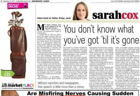The full version of Sarah's column, as posted on her Twitter page
