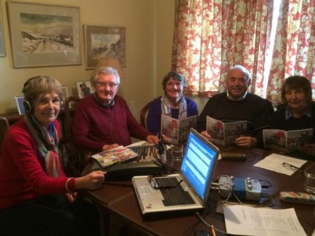 Members of the Cassette's reading team. From left: Liz McCarthy, Marcus Catling, Gill Roberts, Peter Horner and Janet Smith