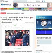 Crawley News football ban