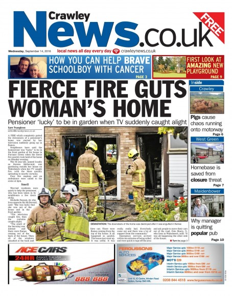 The last edition of the Crawley News will be published on Wednesday