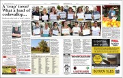 The double-page spread published after the Crap Towns shortlist was first released, featuring responses from local people