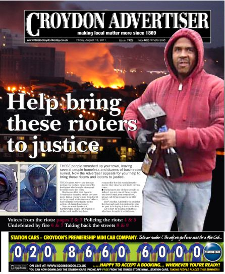 The Advertiser front page which helped bring Thompson, pictured in red, to justice