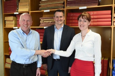 From left: Outgoing DNG editor Bryan Armstrong, managing director Peter Laidlaw and new editor Fiona Reid