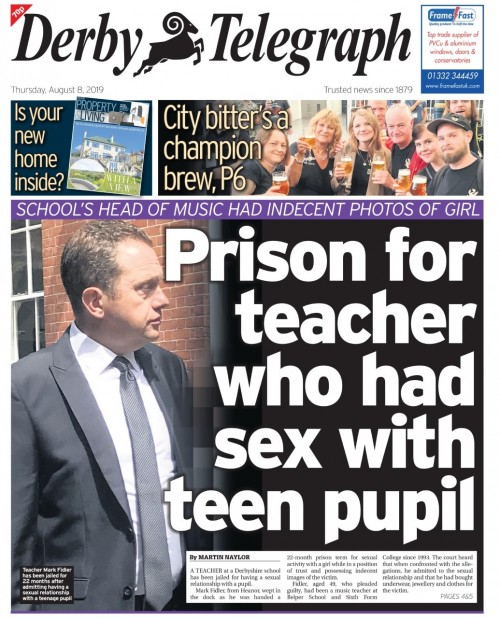 The Telegraph splashed n the sentencing on Thursday