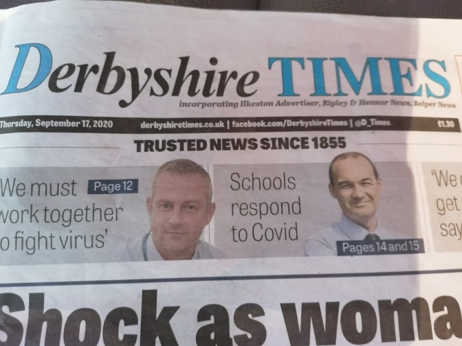 The new Derbyshire times incorporating the Belper News, Ilkeston Advertiser and Ripley and Heanor News