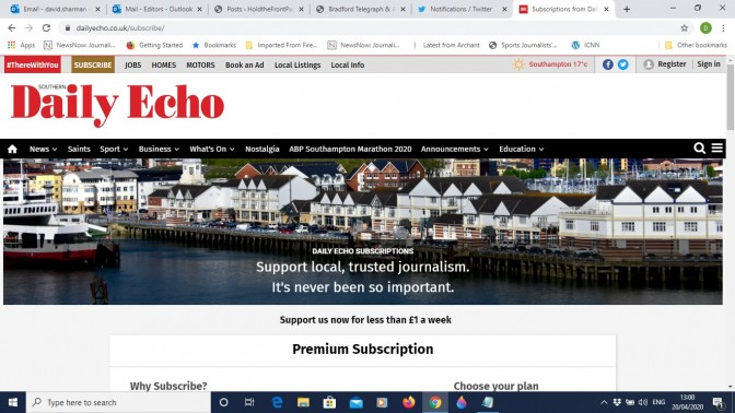 Daily Echo paywall