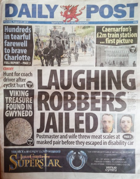 Daily Post page one