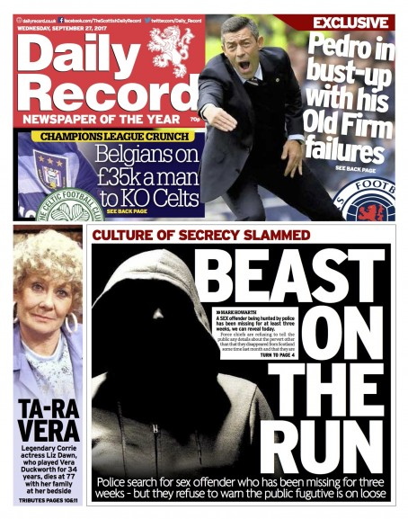 Daily Record more beast