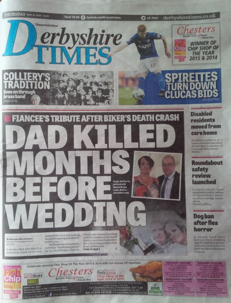 Derbyshire Times front page