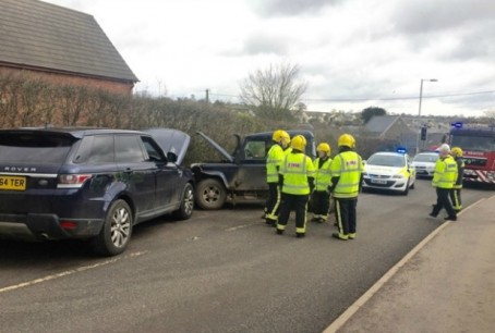 The scene of the crash on the A3072 in March