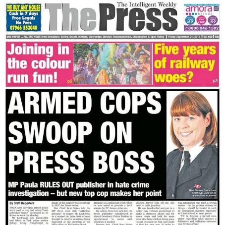 The Press splashed on Danny's arrest on Friday