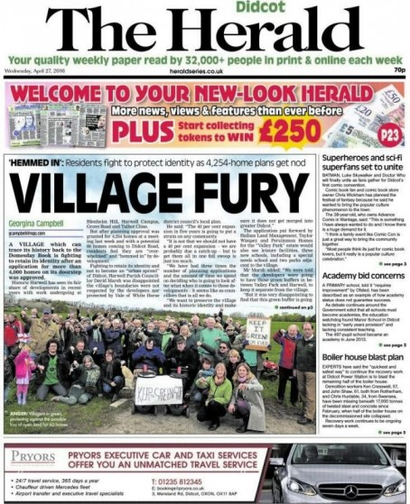 This week's Didcot edition of The Herald