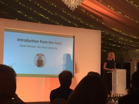 Sky News presenter Sarah Hewson hosts last night's awards ceremony