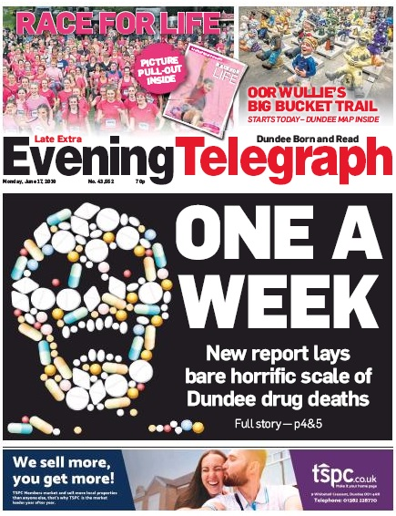 The evening Telegraph has run an ongoing campaign highlighting alcohol and drug abuse