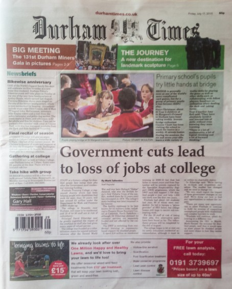 Durham Times front page