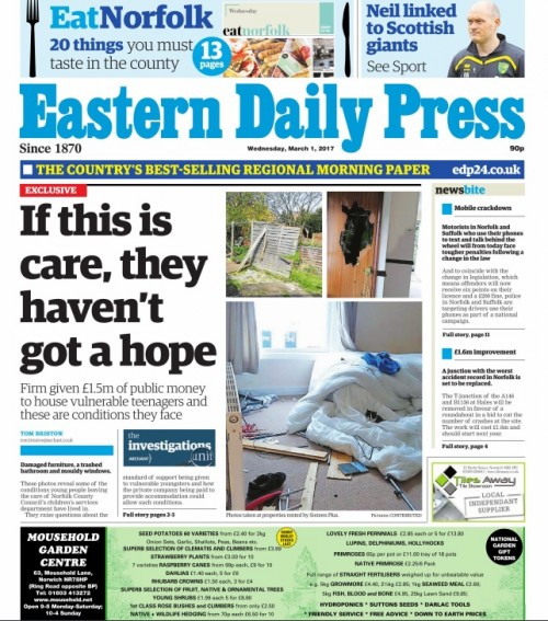 How the EDP first reported the story