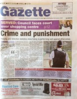 Ealing and Acton Gazette page 1