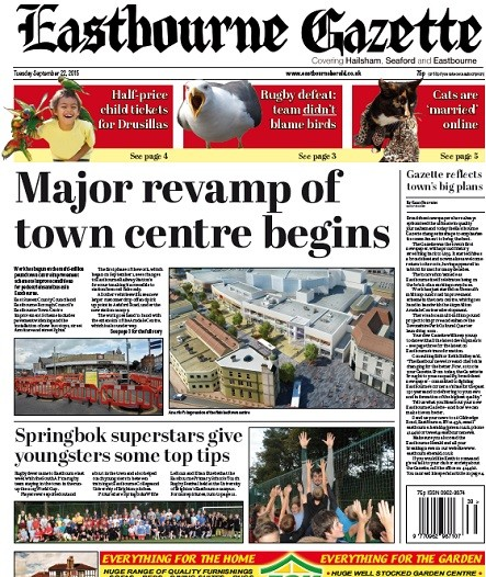 The first edition of the new-look broadsheet Gazette following last year's relaunch.
