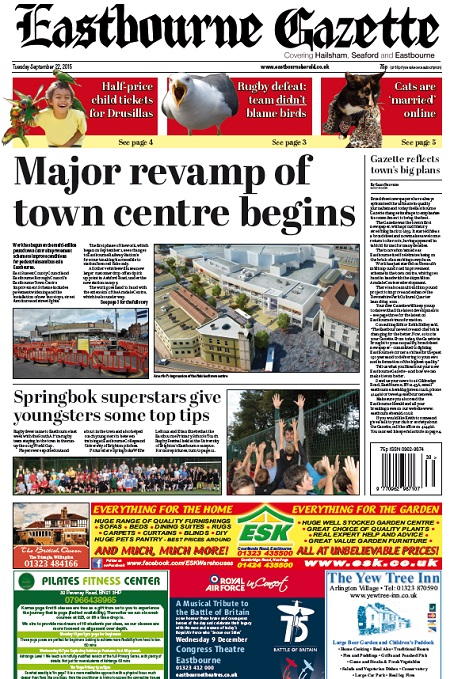 The first edition of the new-look broadsheet Gazette.