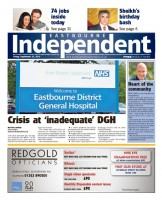 The launch issue of the Eastbourne Independent