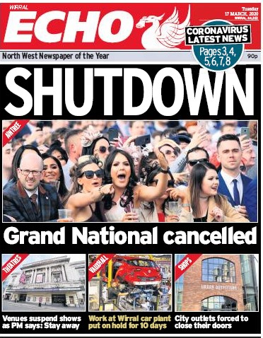 How the Echo covered the initial lockdown announcement in March