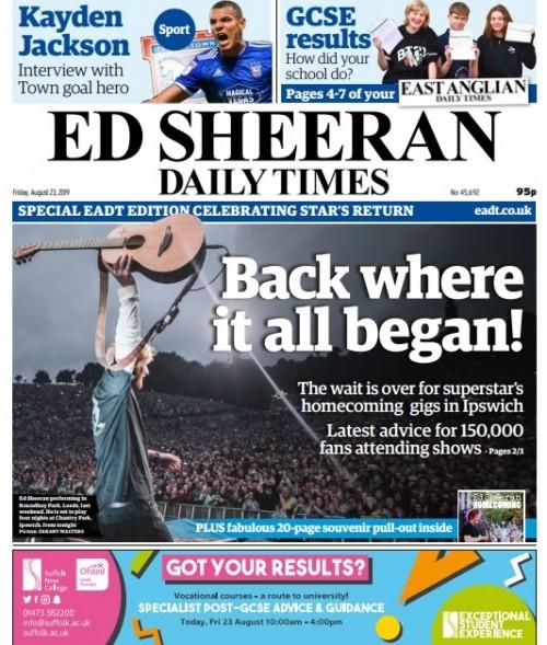 Ed Sheeran Daily Times