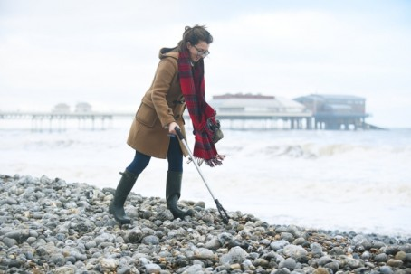 Ellie Pringle, of the EDP, on Cromer beach