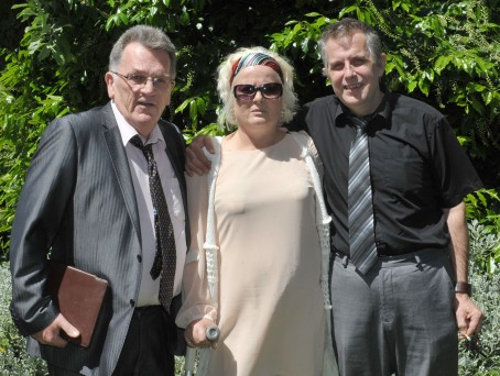 Editor John Elworthy, pictured left, with Ruth Neave and husband Gary Rogers