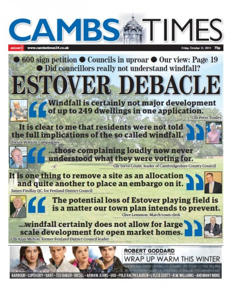 A front page from October 2014 highlighting the campaign
