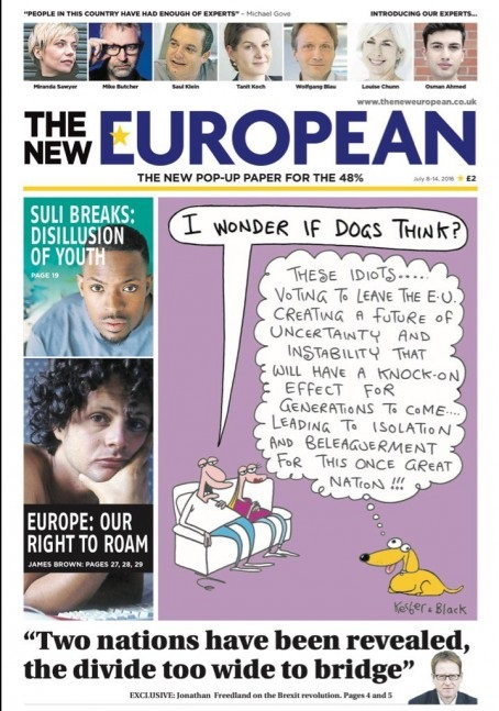 The New European's launch issue