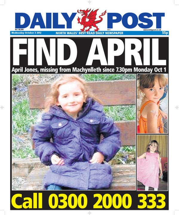 Daily Post Joins Hunt For Missing Youngster April Jones