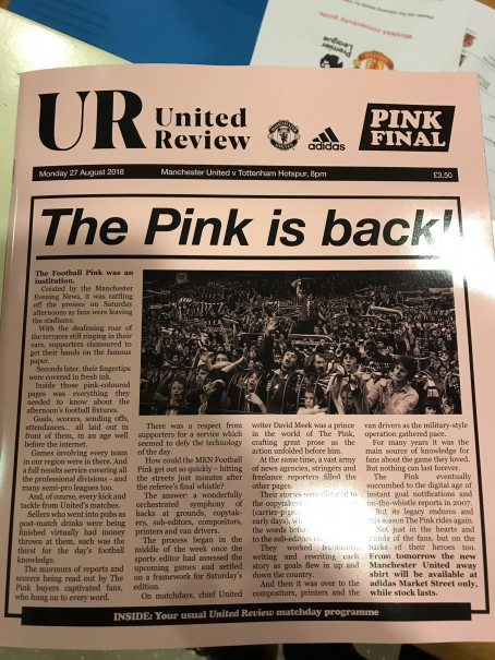 huge discount 0530b 21fa7 Manchester United launch MEN-inspired pink kit after Spurs ...