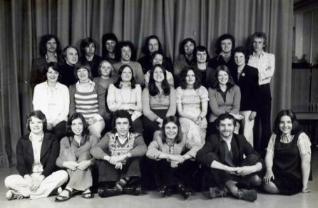 A year-group of students from the early days of Richmond College, Sheffield, including (back row second right) a young Neil Benson.