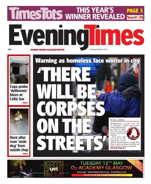 Glasgow homeless