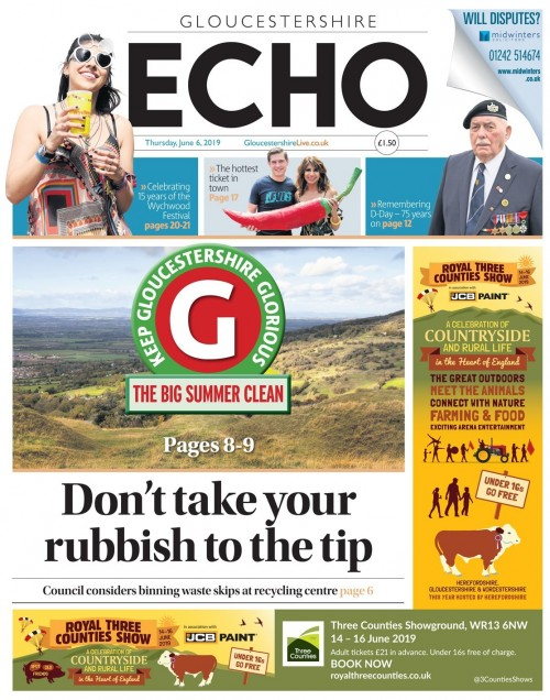 Both the Echo and the Citizen featured the campaign's launch on their front pages last week