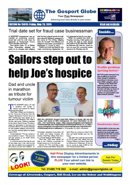This week's edition of the Globe, which is available in PDF format