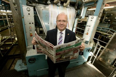 MNA print MD Graeme Clifford with Chronicle Week