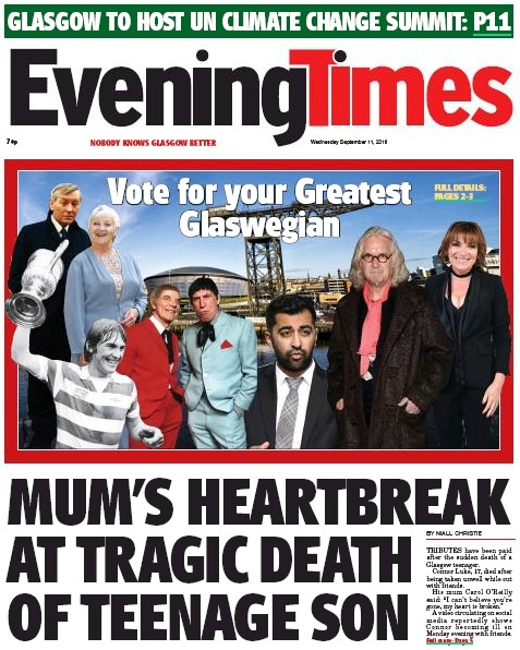 The Evening Times launched the Greatest Glaswegian search earlier this year