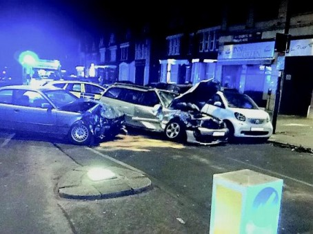 The crash that triggered the Gazette's story on high-speed car chases