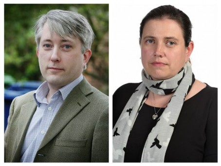 Victim Adrian Greenwood, left, and journalist Heather Greenaway