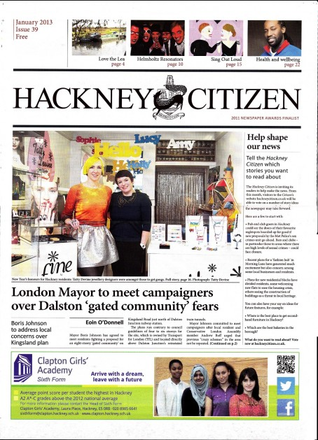 The new title will serve as a sister paper to the Hackney Citizen