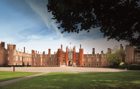 Hampton Court Palace, where the ceremony was held