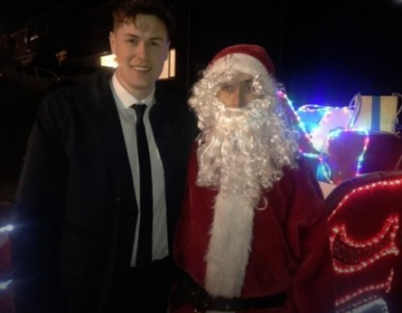 Harry Leach with Father Christmas