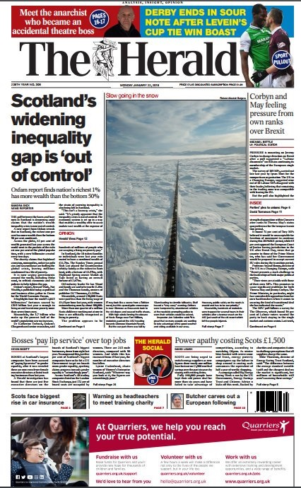 The story in question was published on The Herald's front page