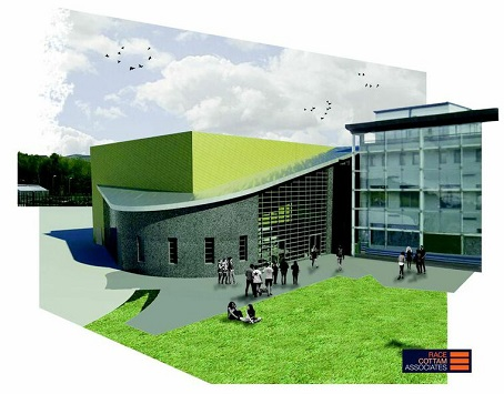 An image showing how the Hillsborough College extension will look. Pic by Race Cottam Architects.
