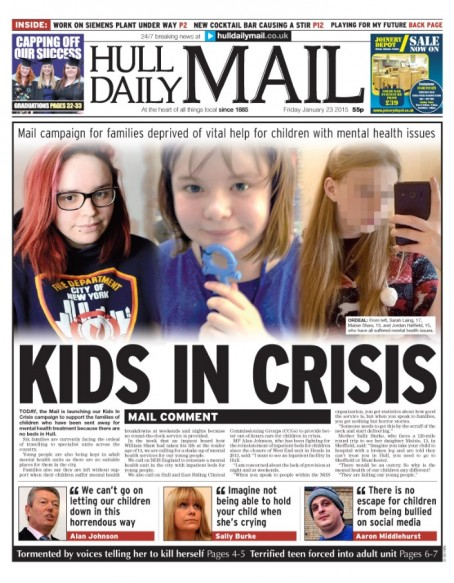 The front page which launched the campaign in January 2015