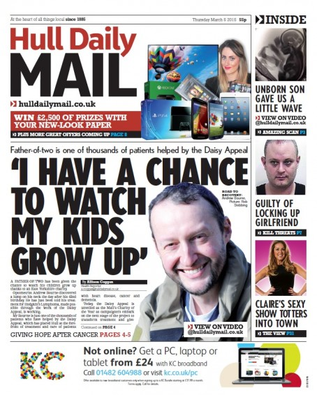 Thursday's relaunched Hull Daily Mail